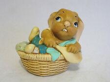 Pendelfin Stonecraft Little Mo Rabbit Figurine Turquoise England #1035482