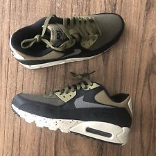 A913G Nike Air Max 90 Premium Natural Olive 700155-203 Mens Sneakers Size 9 NEW