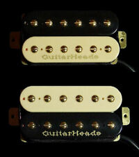 Guitar Parts GUITARHEADS PICKUPS GOLD RUSH HUMBUCKER - Bridge Neck SET 2 - ZEBRA