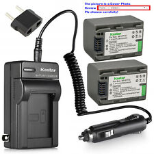 Kastar Battery Travel Charger for Sony NP-FP70 NP-FP71 Sony DCR-DVD803 DVD803