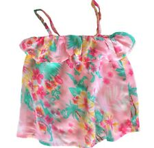 WAVE ZONE Top ~ Girls Size 3 ~ Floral Ruffle Cami ~ New ~ MBC