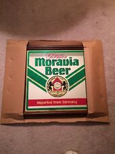 """Original Moravia Beer Mirror Sign Imported From Germany 16"""" X 16"""" NEW IN BOX"""