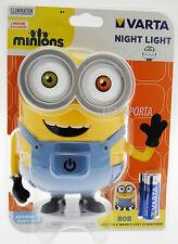 Lampada Notturna Bob Originale Minions Varta con batterie Luce notturna Ted