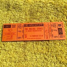 The Rolling Stones Unused Madison Square Garden Ticket 11/13/1981