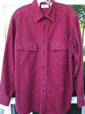 L.L.Bean Men Long Sleeve Cotton Red Chamois Cloth Casual Shirt 15 1/2 Medium USA