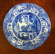 "Spode Blue Italian Rim Soup Bowl 9"" Made in England Rimsoup"
