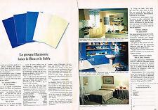 PUBLICITE  1969   GROUPE HARMONIC  appareils sanitaires faiences  glaces teint(2
