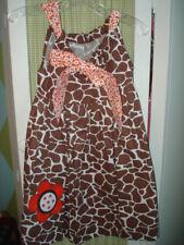 Boutique MIS TEE V-US girls giraffe bow dress 5/6