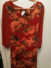 Next Red floral Tunic Dress 14 BNWT