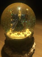 Wizard Astronomer Merlin Somewhere in Time Snow Globe SF Music Box Co. Very Rare