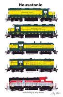 "Housatonic Railroad Locomotives 11""x17"" Poster Andy Fletcher signed"