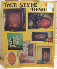 Tole Style Designs Craft Course Publishers Painting Pattern Leaflet #H221 1974