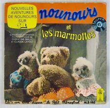 Bonne nuit les Petits 45 tours Livre-Disque Nounours et les marmottes 1977