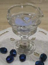 Partylite Glas - Votivkerzenhalter Teelichthalter Eisbecher Klarglas 13 cm groß