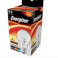 ENERGIZER 40W 60W 100 WATT GLS CLEAR LIGHT BULB BAYONET SCREW BC/ B22 ES/ E27