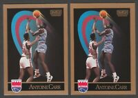 1990 Skybox ANTOINE CARR Basketball Rare Error & Corrected Version Cards #244
