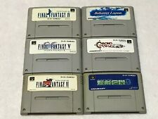 Final Fantasy Chrono Trigger Lot 6 Nintendo SFC Super Famicom Japan SNES NTSC-J