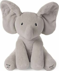 Gund Flappy The Animated Elephant Stuffed Animal Plush Children Grey 12 Inches