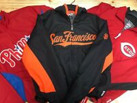 MAJESTIC WARM UP THERMA BASE JACKETS BASEBALL MBL MANY TEAMS AND SIZES FOR MEN