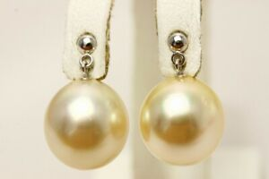 South Sea Pearl Earrings 12mmUP Cream color K14WG