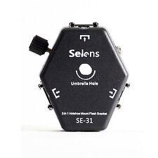Selens SE-31 Triple Mount speedlight Flash Bracket With Triggering Loop