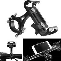 "Motorrad 4-6.5 ""Handyhalter Halterung Anti Slip Pad Schwarz Aluminiumlegierung"