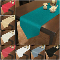 Diamante Jacquard Table Runner & Napkins Wipe Clean Table Cloth Party Tableware