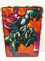 Beast 1992 Marvel Masterpieces Vending Machine Chase Prism Sticker Card