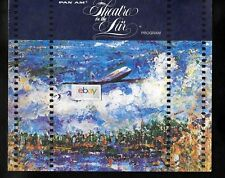 PAN AM 1970 THEATRE IN THE AIR PROGRAM OF ENTERTAINMENT B707 CLIPPER GALLEGO