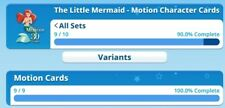 Little Mermaid Motion Set Without Ariel Award By Topps Disney Collect Digital...
