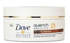 DOVE ADVANCED ABSOLUTE QUENCH RESTORATION MASK CURLY COARSE HAIR FREE SHIPPING