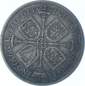 Better Date - 1930 Great Britain 1 Florin - SILVER *189