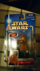 Star wars attack of the clones mace windu figure