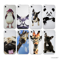 Funny Animals Case/Cover Apple iPhone 4 4s / Screen Protector / Soft Silicone