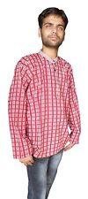 Men Kurta Indian 100% Cotton Tunic Shirt Traditional Ethnic Wear Xxl