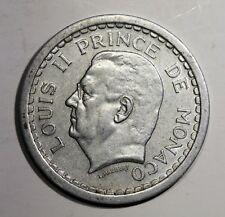 Piece de 2 Francs 1943 Monaco. Prince Louis II. Alu   KM121  Aca970