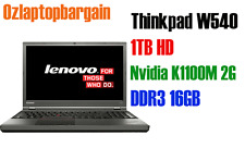 "Notebook Thinkpad W540 Laptop 15.6"" i5 Nvidia K1100M 3.2Gh 16GB RAM 1TB Laptop"