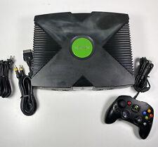 Microsoft Original Xbox System Console W/ A/V Power Cables & Controller Works