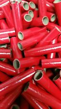 "25 NEW Fireworks Kraft Gloss Red PYRO Cardboard Tubes 9/16"" x 3"" x 1/16"""