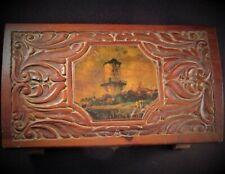 "Vintage ""Lighthouse"" Themed, Cigar - Jewelry - Storage, Cedar Wood Box"