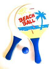 Juego palas de madera pelota tenis ideal para la piscina playa camping