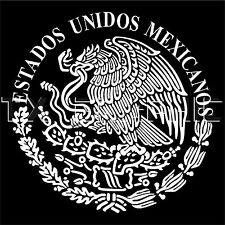 ESTADOS UNIDOS MEXICANOS DECAL MEXICAN  EAGLE  AGUILA DE MEXICO  FLAG BANDERA