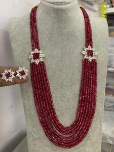 Indian Bollywood Kundan Gold Tone Bridal Wedding Style Women Long Mala Necklace