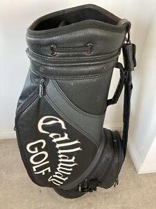 Callaway Hawkeye Black Leather Tour Staff Bag - Loads of Life Left