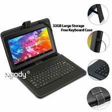 """32GB 10.1"""" Inch HD A33 Quad Core WIFI Android 5.1 Tablet PC Bundle Keyboard Case"""