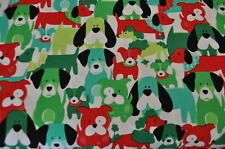 Michael Miller USA DOGS DOG Family Designer fabric 0.5m x 1.10 m Christmas