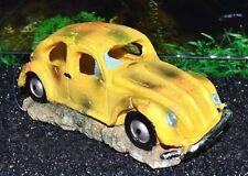Air Action Yellow Beetle Car Kids Aquarium Ornament for Fish Tanks 843