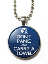Magneclix magnetic pendant-Don't Panic and Carry a Towel - HHGTTG