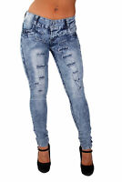 Plus Size, Colombian Design, Butt Lift, Ripped Skinny Jeans