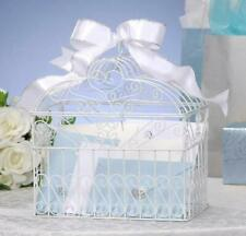NEW DARICE METAL BRIDAL WEDDING BIRDCAGE CARD HOLDER WISHING WELL WHITE VL1017